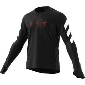adidas ConfGFX Maglietta A Maniche Lunghe Uomo, black